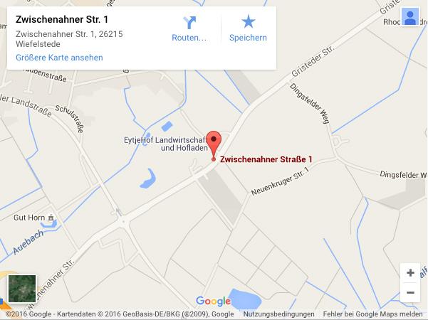 Anfahrt Zwischenahn Straße 1, 26215 Gristede